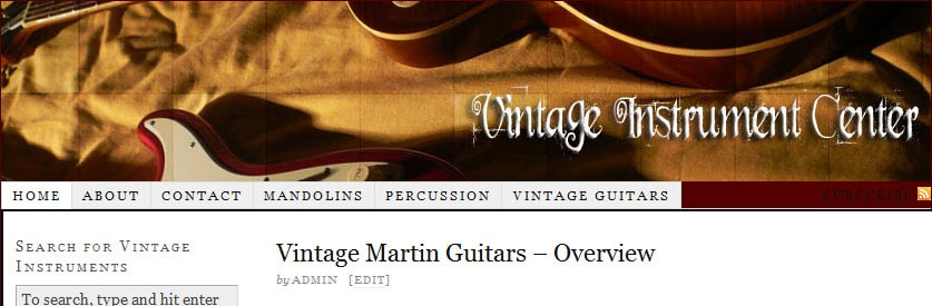 vintage instrument center