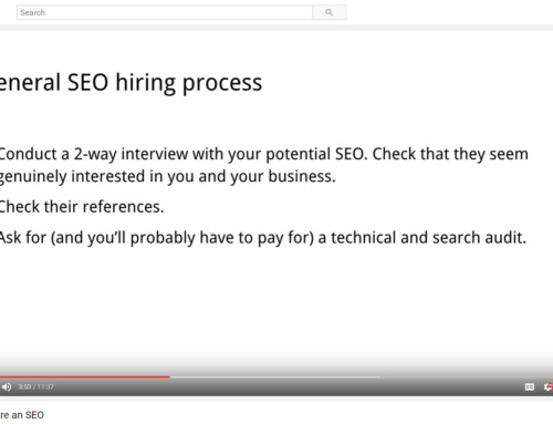 How to Hire An SEO – Advice From Google (VIDEO)