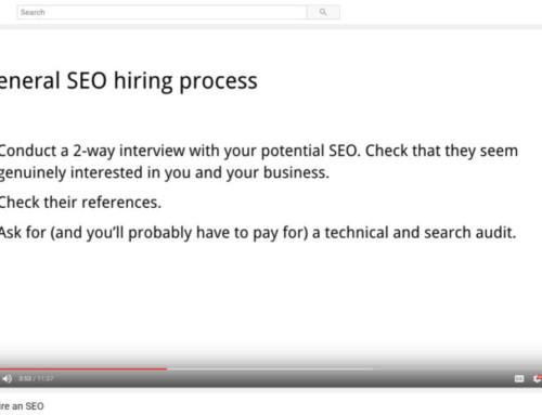 """How to Hire an SEO"" (Google Video Rundown)"